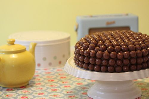 How to make: Chocolate Malteser Cake - http://www.mytaste.co.uk/r/how-to-make-chocolate-malteser-cake-6832198.html