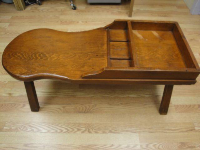 Vintage Antique Shoe Cobblers Bench Furniture Coffee Table Shoe Cobbler