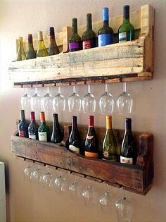 Schön Recycling: Coole Möbel Aus Alten Paletten #Weinregal #Weinglas