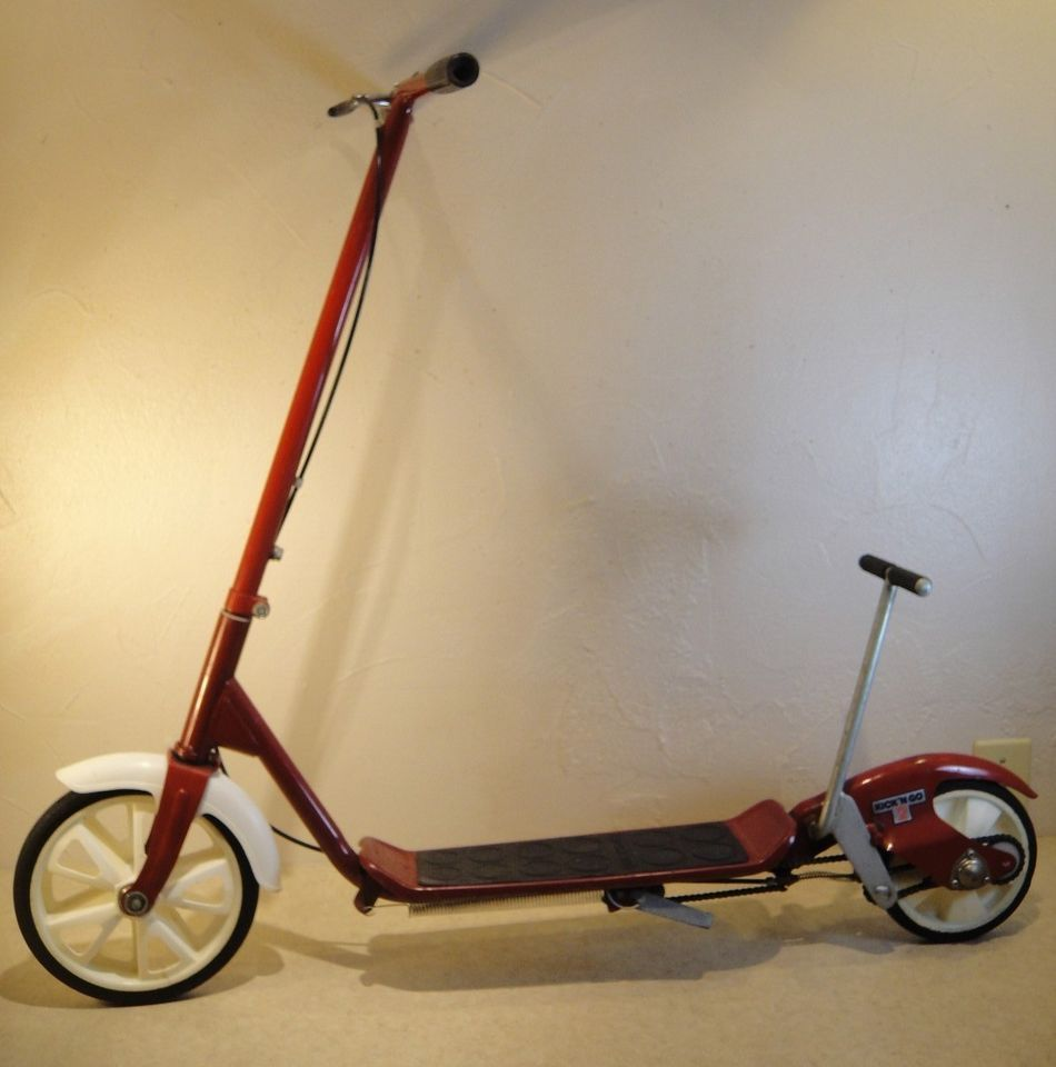 Vintage HONDA Kick-N-Go-2 ~ 2-Wheeled Red Scooter | General