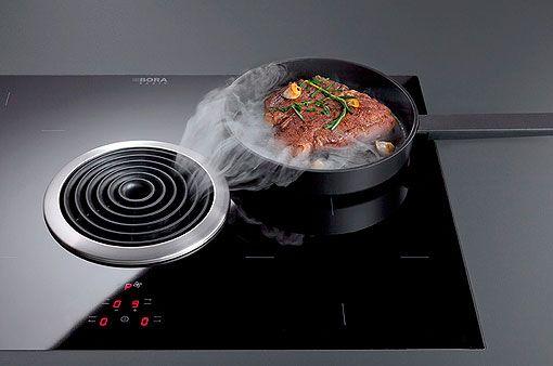 Placa De Coccion Con Extractor Integrado Extractores De Cocina Placas De Cocina Campanas De Cocina