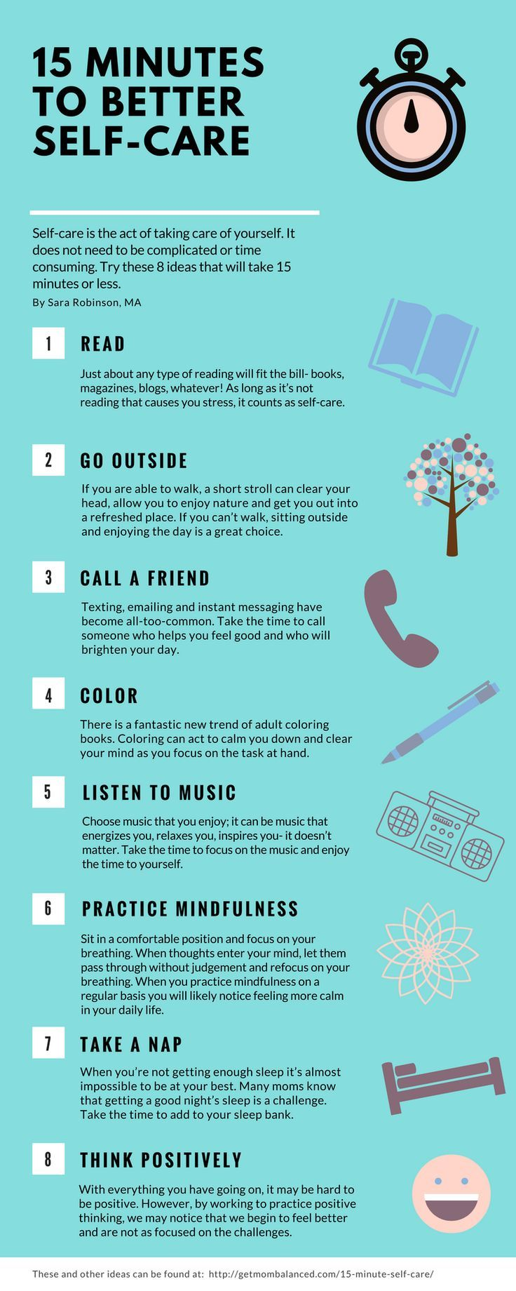15 Minute Self-Care: 15 Quick and Effective strategies | Pinterest ...