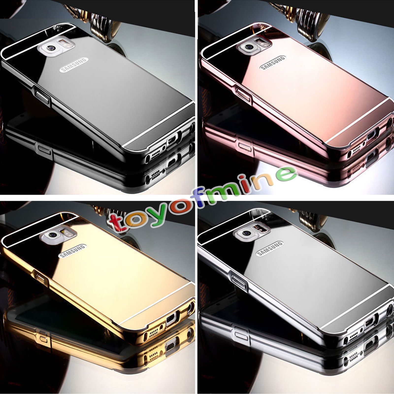 Luxury Aluminum Metal Mirror Case Pc Back Cover Skin For