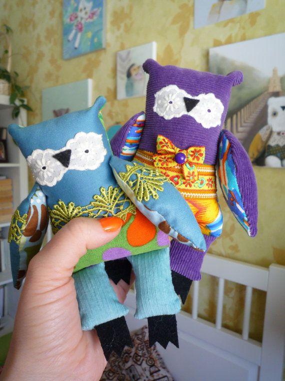 0a735c81515b Owl Mystery Bag Grab Bag ,1 little owl, soft art toy by Wassupbrothers.