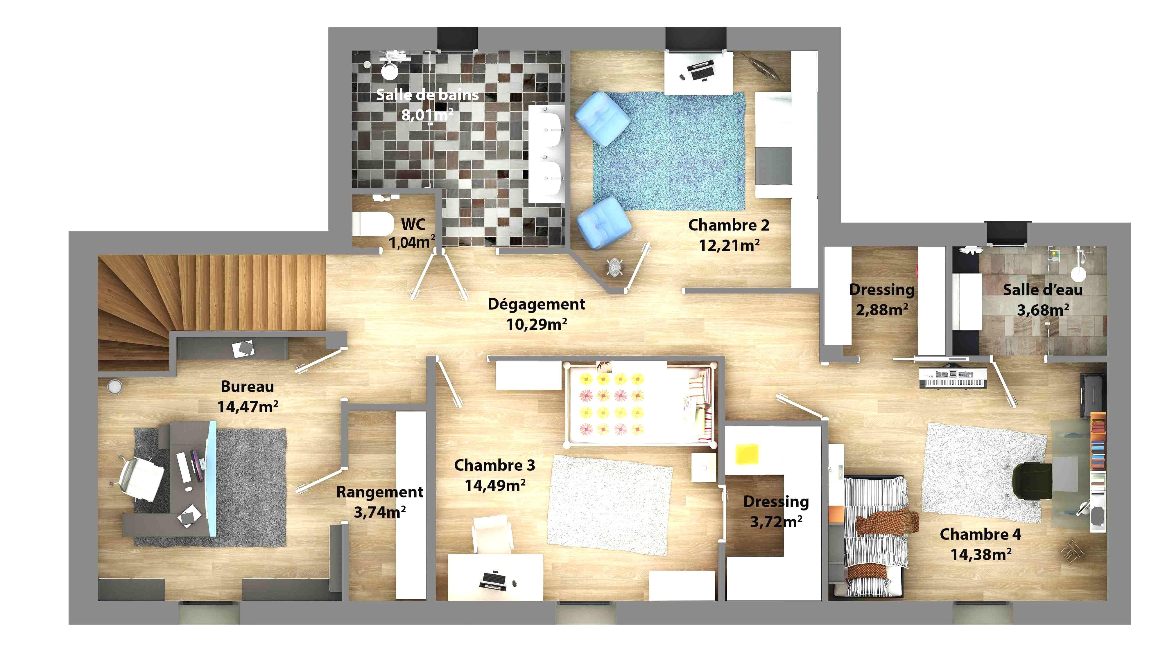 Plan De Maison 2 Etage Plan Maison 3d Architecture Pinterest Avec Plan De Maison 2 Etage Luxe Plan De Maison Plan Maison Plan Maison 3d Plan Maison 4 Chambres