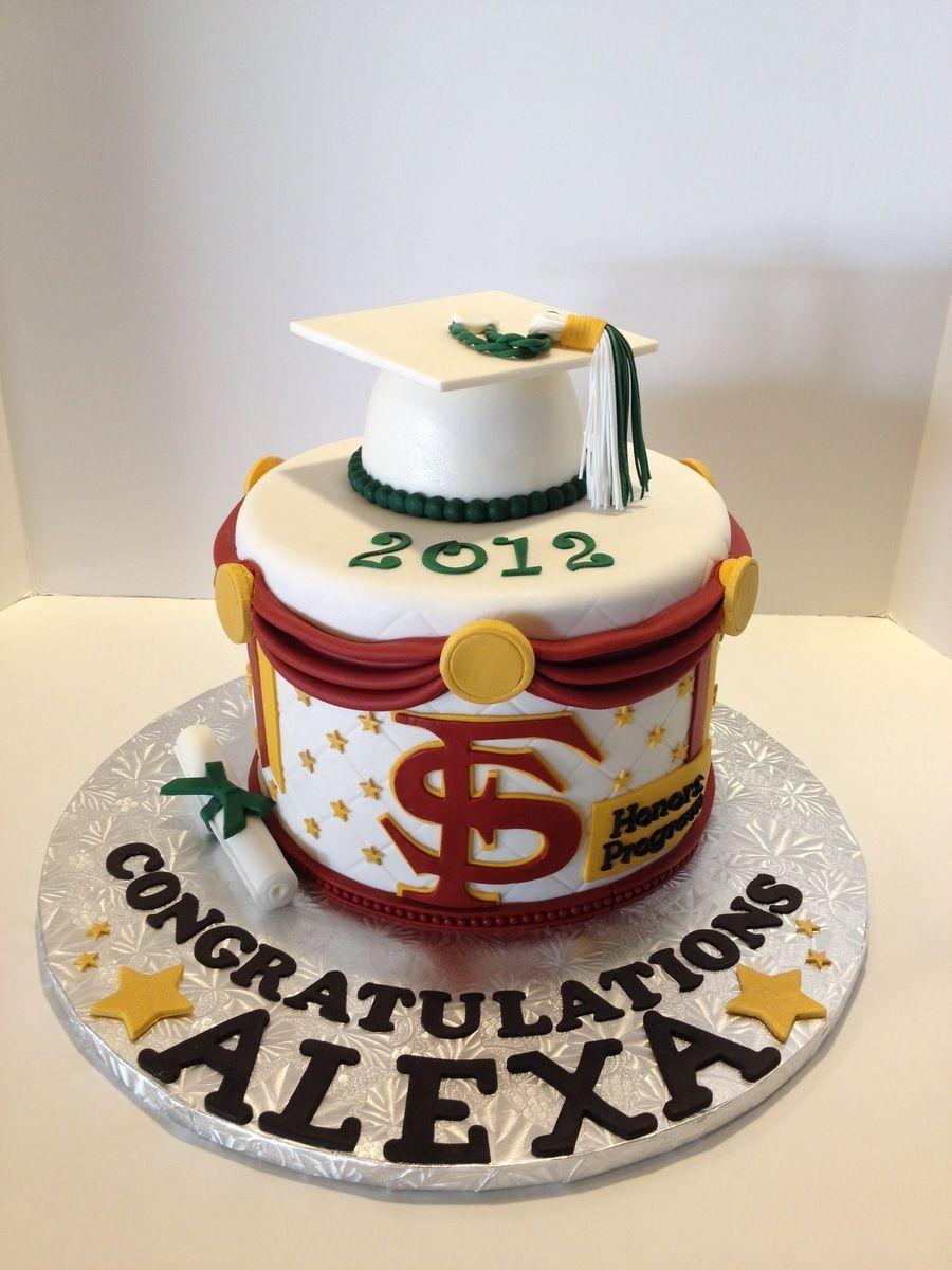 Fsu Graduation Cake With Images Fsu Graduation Graduation