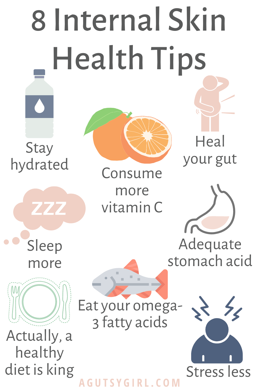 15 Internal and External Skin Health Tips   Improve skin health, Women  health care, Skin health