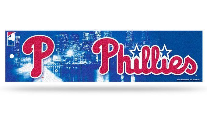 Philadelphia Phillies Bumper Sticker - Glitter