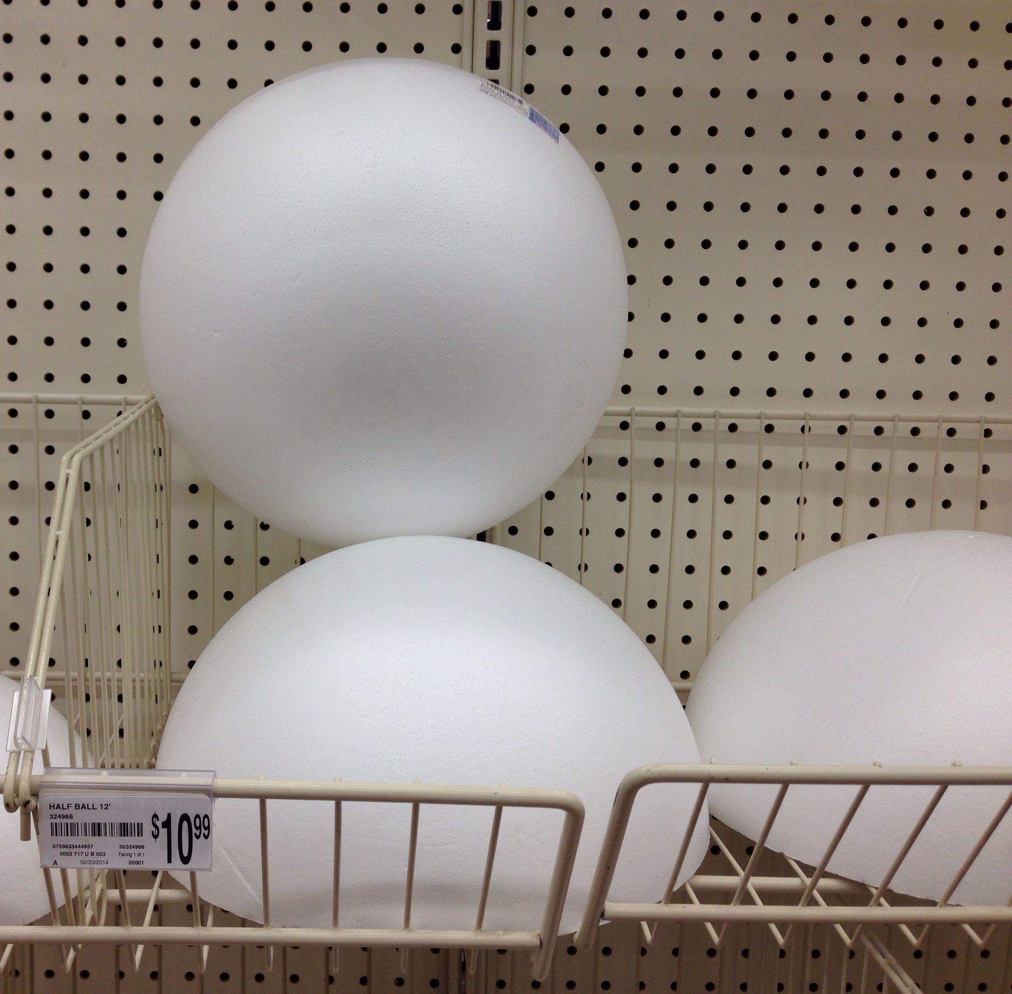 how to cut styrofoam ball in half