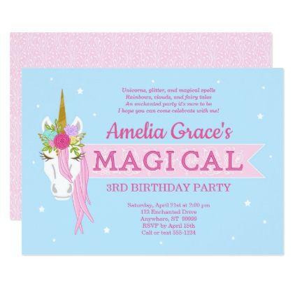 Kimbellished unicorn birthday invitation layout 3 stopboris Choice Image