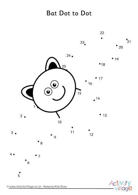Bat Dot To Dot Dot Worksheets Kindergarten Worksheets Printable Kindergarten Worksheets