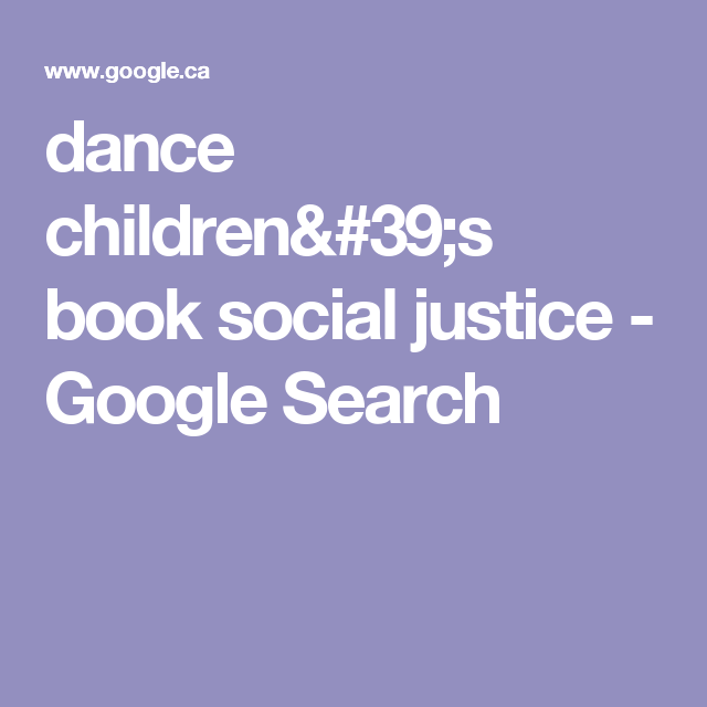 dance children's book social justice - Google Search