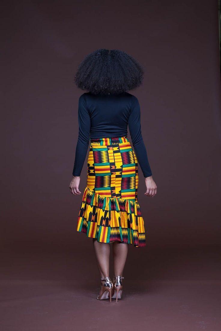 African Print Ren Pencil Skirt   –  #pencilskirt #pencilskirtFall… Women Fashion