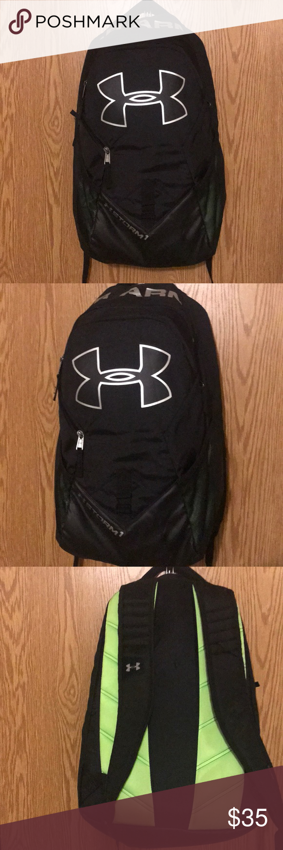 e587b4bcb71e Under Armour Storm Big Logo IV Backpack 100% Polyester UA Storm technology  delivers an element