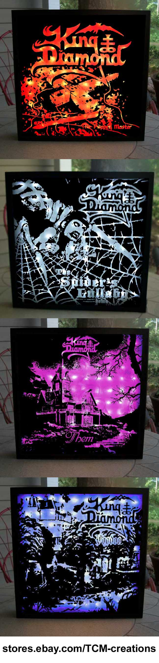 King Diamond Shadow Boxes with LED lighting  Fatal Portrait