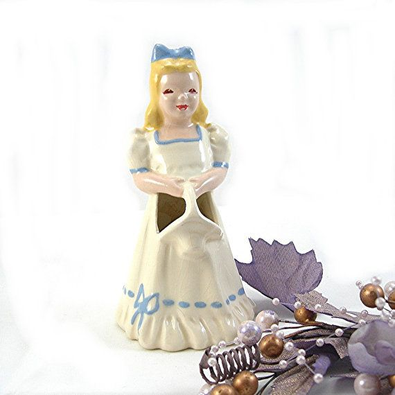 Florence Figures Ceramics Girl Figurine by AtticDustAntiques