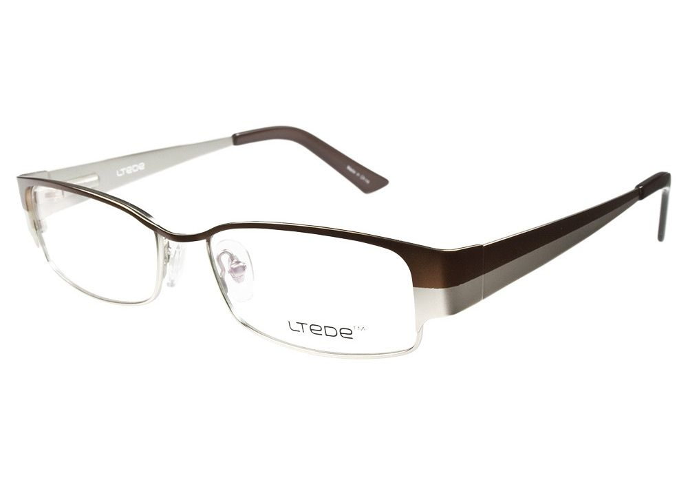 The Ltede 1034 Brown & Silver glasses have a sleek two tone style ...