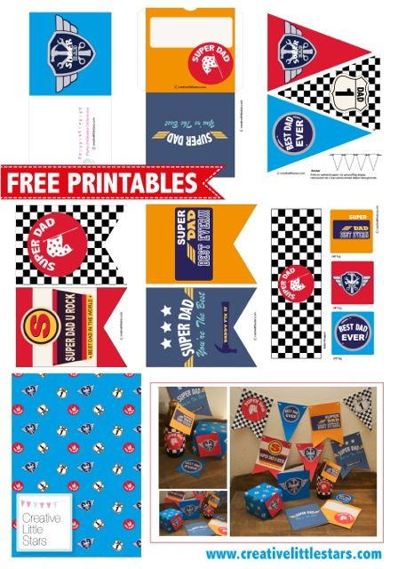 free fathers day party printables catchmypartycom race car