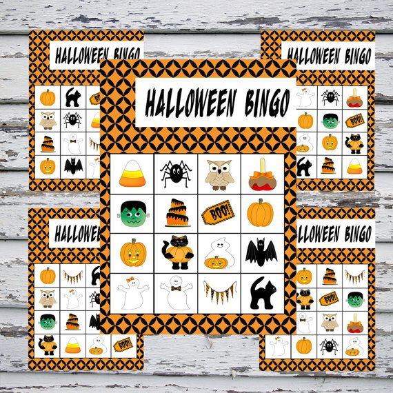 photograph about Printable Halloween Bingo Card identify Printable Halloween Bingo - Fast Obtain - 20 Bingo