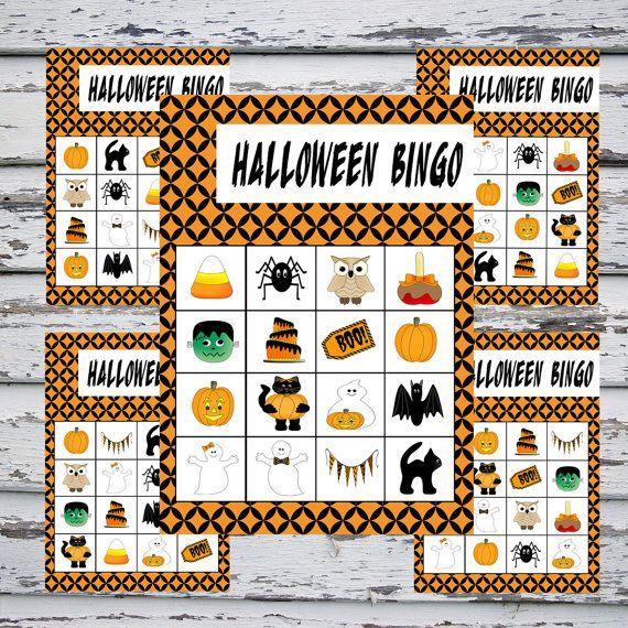 graphic about Printable Halloween Bingo Card named Printable Halloween Bingo - Immediate Obtain - 20 Bingo