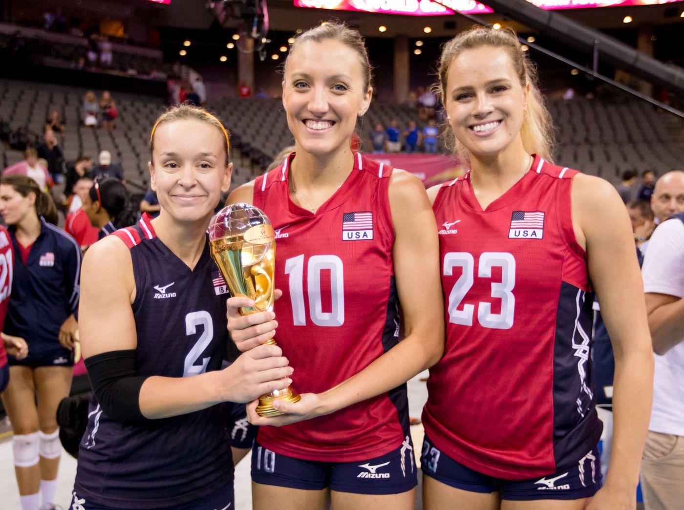 07 26 2015 Fivb World Grand Prix Finals Last Day Usa Volleyball Team Female Volleyball Players Usa Volleyball