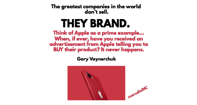 Gary Vee Quote Sales Versus Branding Apple Marcellainc