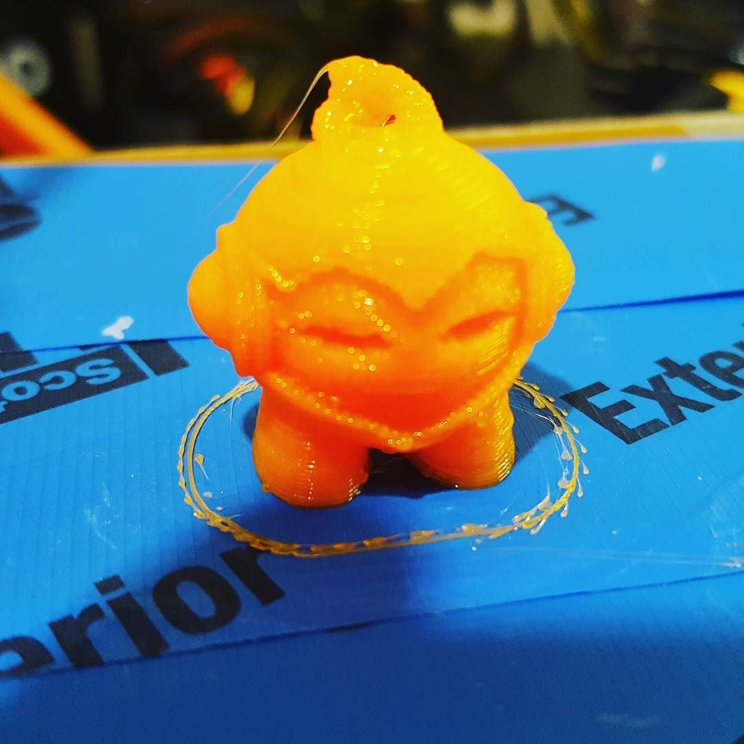 Something we liked from Instagram! Working on calibrating the #printrbot #3dprinter. Lots better fresh PLA makes a difference. #maker by cmdann check us out: http://bit.ly/1KyLetq