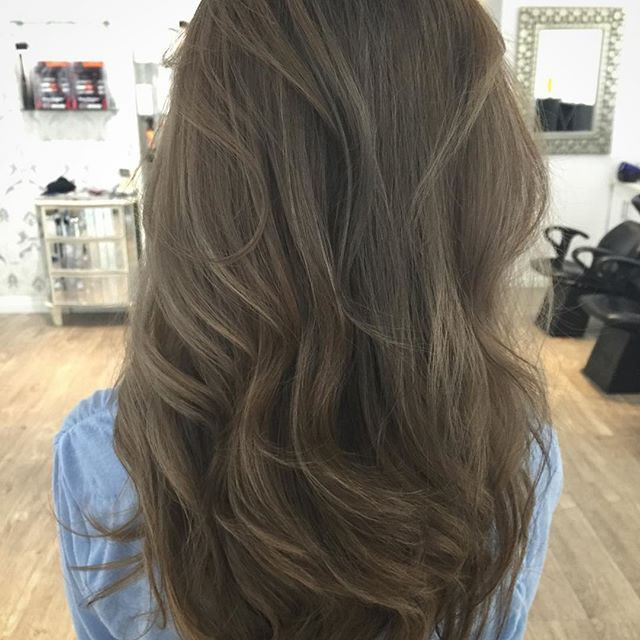 ASH!!!! Beautifully done by @hairby.kd @mysekaihair ash ashbrown ashbrownhair\u2026  Ash Brown