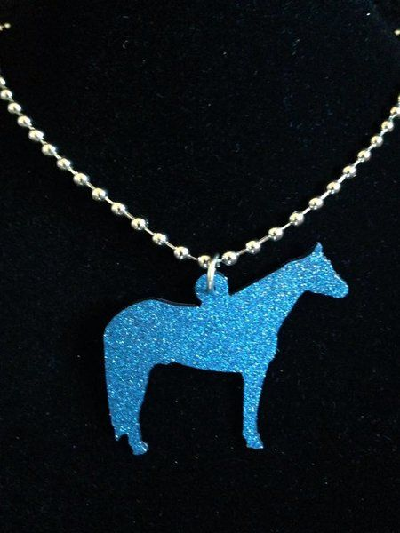 Glitter Finish Show Horse Necklace **MORE COLORS**