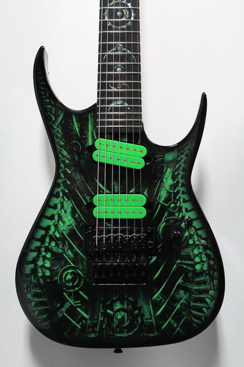 Green Xenocide Custom Shop 7 String Dean Rc7 Guitars Gibson Les Paul Wiring Diagram Besides Epiphone Jr