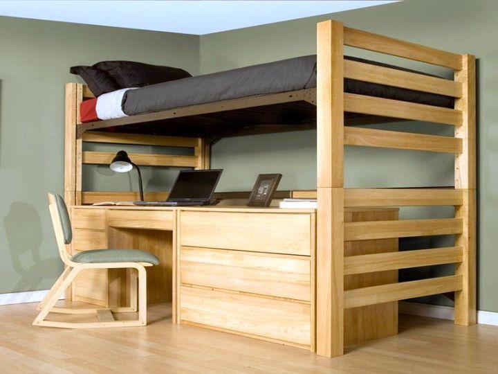 Minimalist Platform Desk Bed For Adults For Grandkids