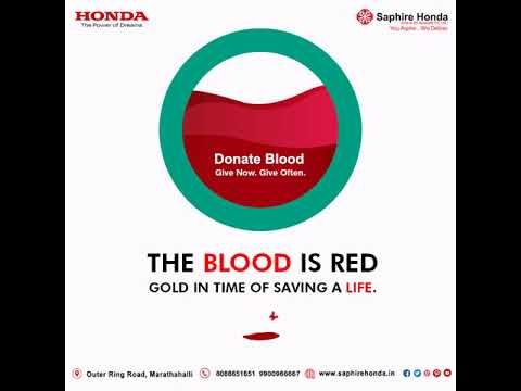 Donate blood and be the reason of smile to many faces. #WorldBloodDonorDay #HondaOffer #HondaCars