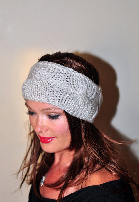 Ear Warmer Crochet Headband | knit | Pinterest | Gorros lana, Gorros ...