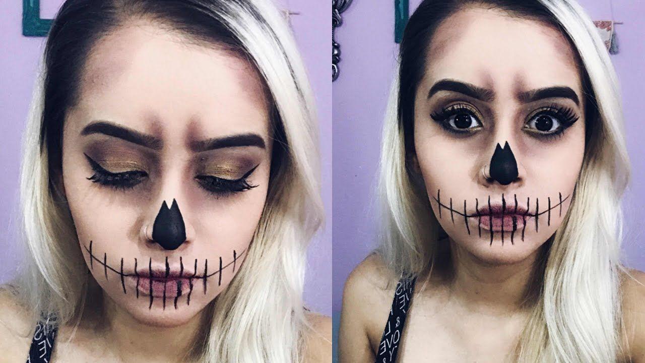 Maquiagem Caveira Fácil Halloween 2019 Carla M