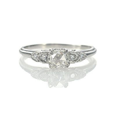 Reproduction Art Deco Engagement Ring