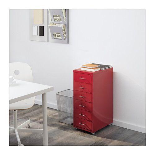 helmer caisson tiroirs sur roulettes rouge ikea salle de musique pinterest caisson. Black Bedroom Furniture Sets. Home Design Ideas