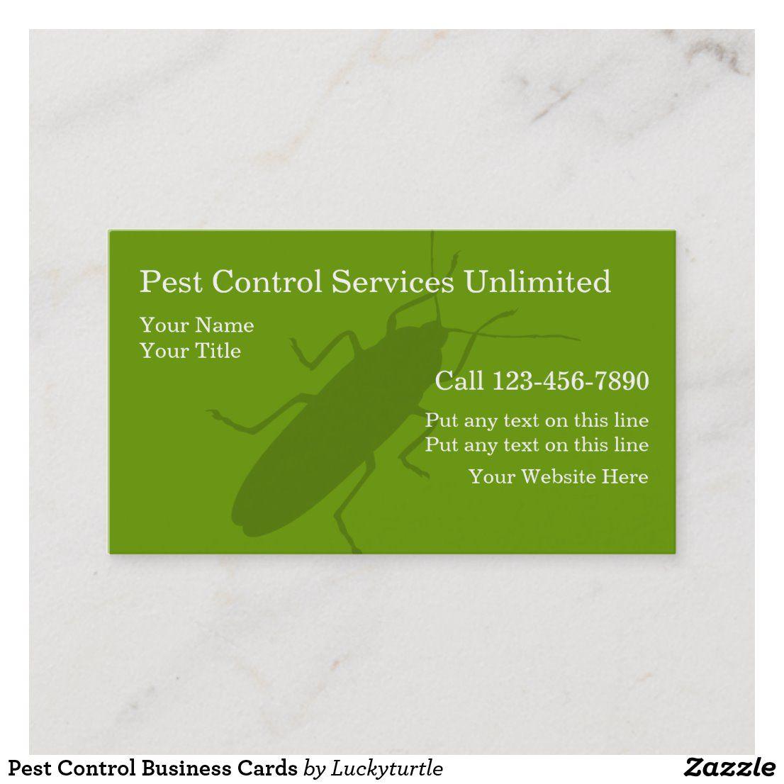 Pest Control Business Cards Zazzle Com Pest Control Business Cards Pests