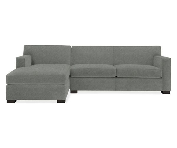 "Room & Board - Dean 106"" Sofa with Left-Arm Chaise in granite"