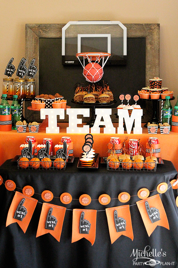 Basketball Party Idea: March Maddness Themed Food & Mini ...