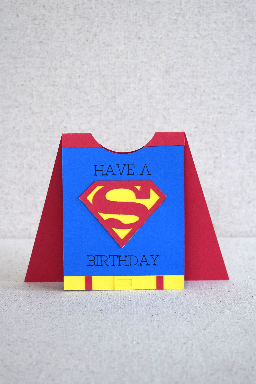 Superhero Card With Cricut In 2021 Cricut Birthday Cards Dad Birthday Card Birthday Cards For Boys