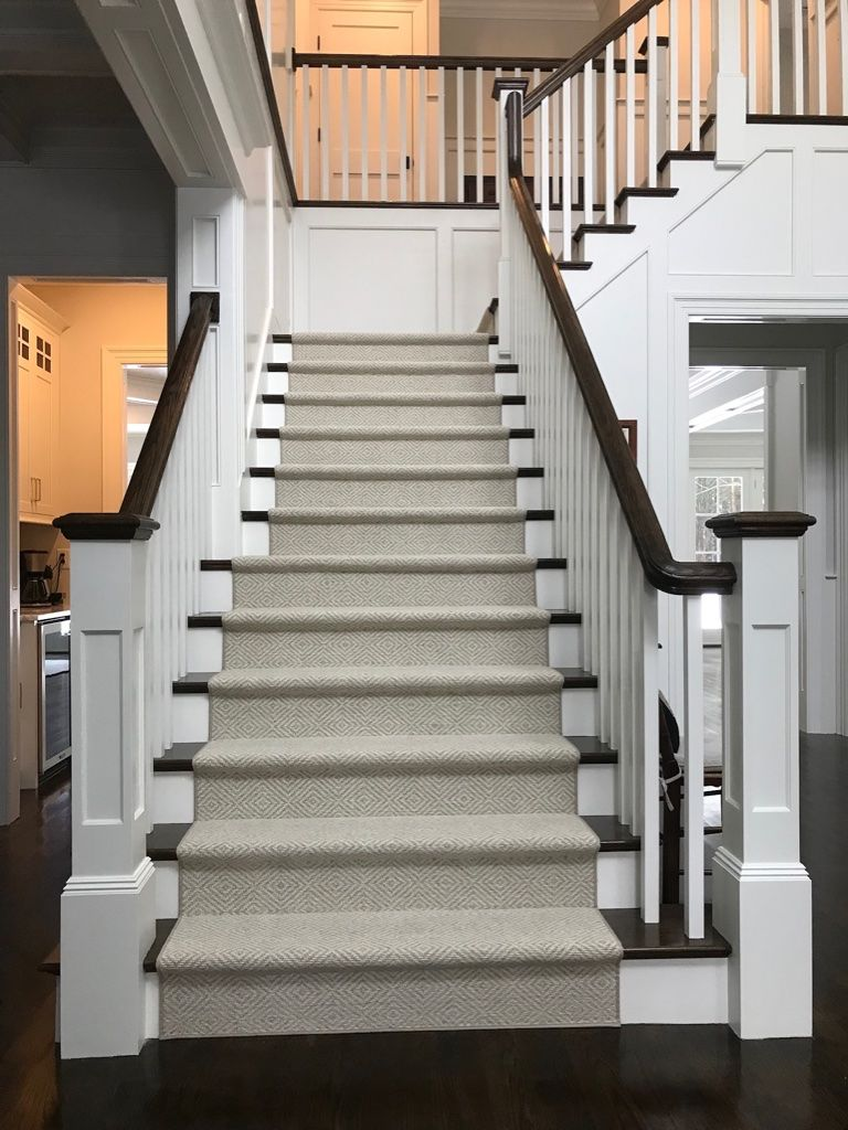 Make An Entrance With A Geometric Modern Diamond Style Runner Do One Better And Use A 100 Wool Product So Stair Runner Carpet Carpet Stairs Geometric Carpet