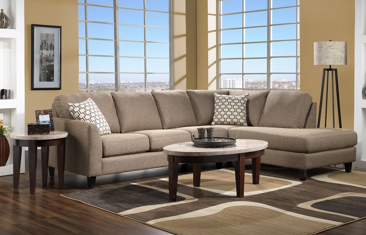 Living room furniture the ryder collection ryder 2 pc sectional
