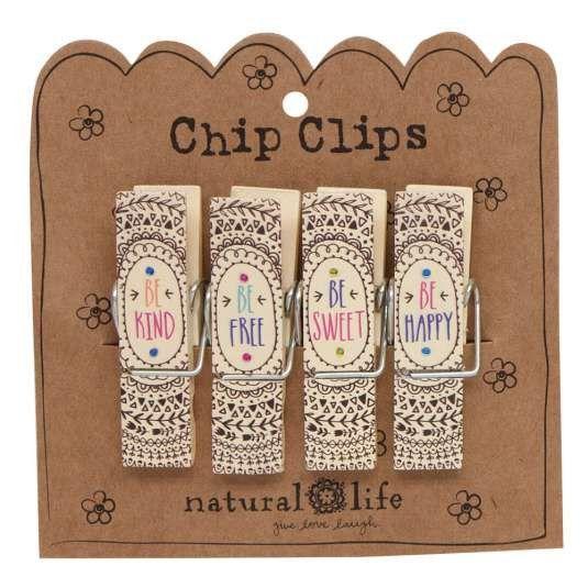 Mandalas Be Happy Chip Clip