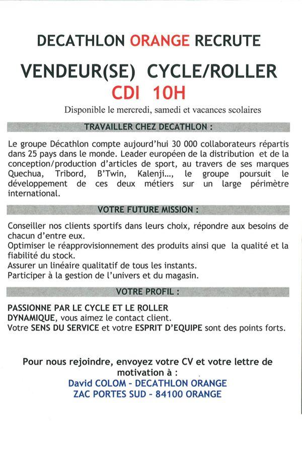 Offre D Emploi Decathlon Orange Jpg 600 912 Blog Images Decathlon Blog