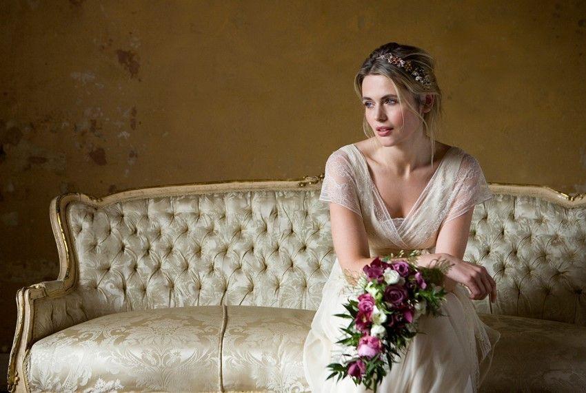 Romantic Vintage Wedding Dresses from Sally Lacock #grecianweddingdresses