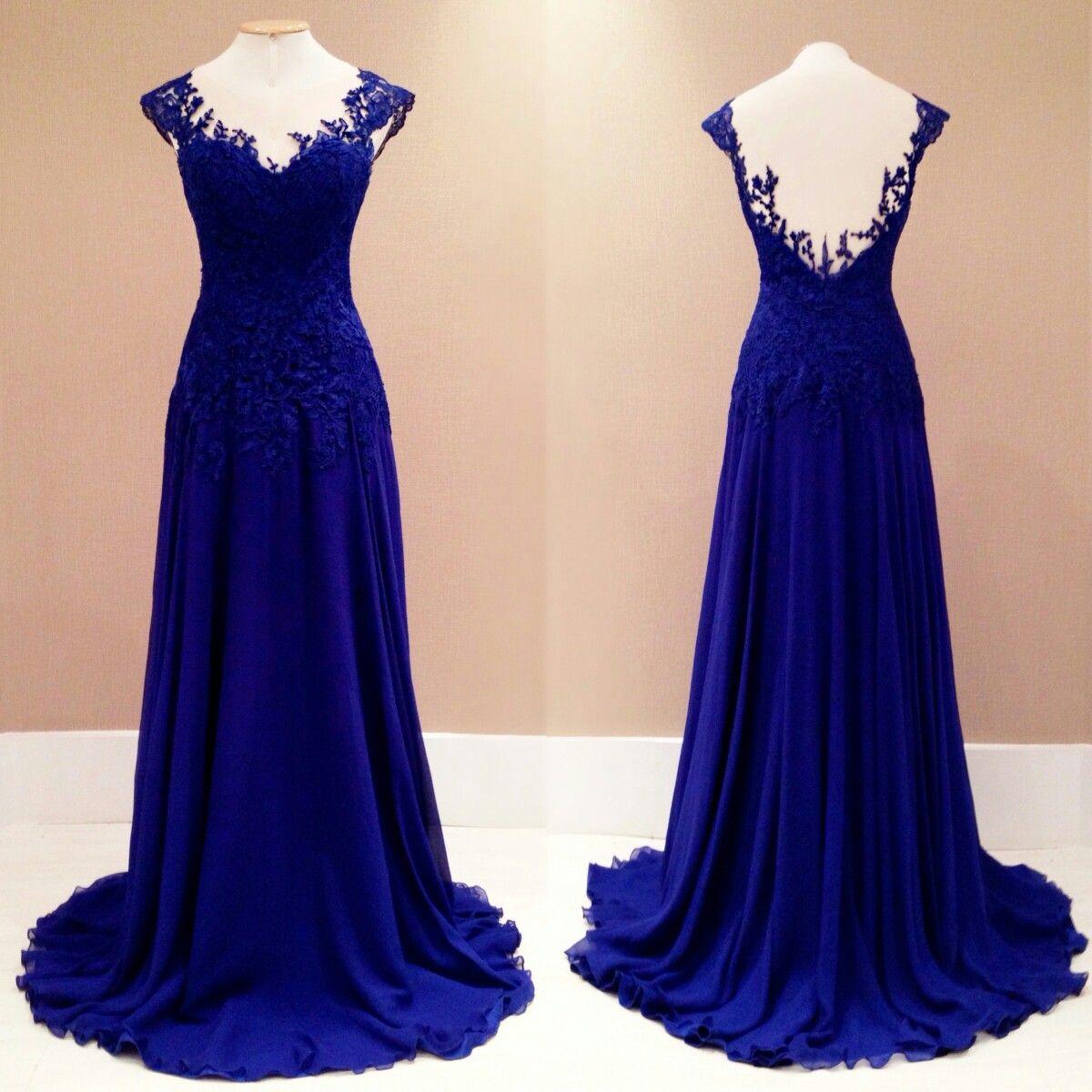 Lace dress royal blue  Pin by Maria Luísa Mackowiak on Vestidos  Pinterest