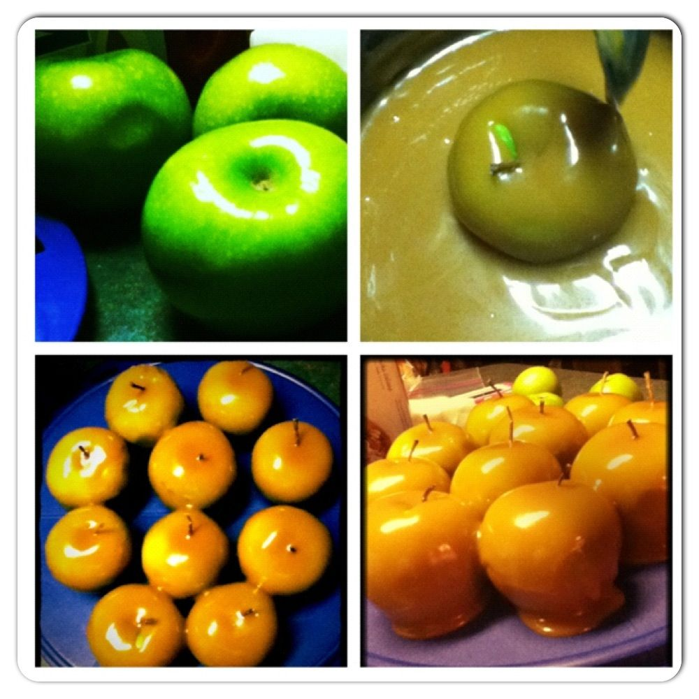 My home-made caramel apples :)