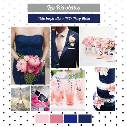 rose poudré & bleu marine   top couleur mariage en 2019   pinterest
