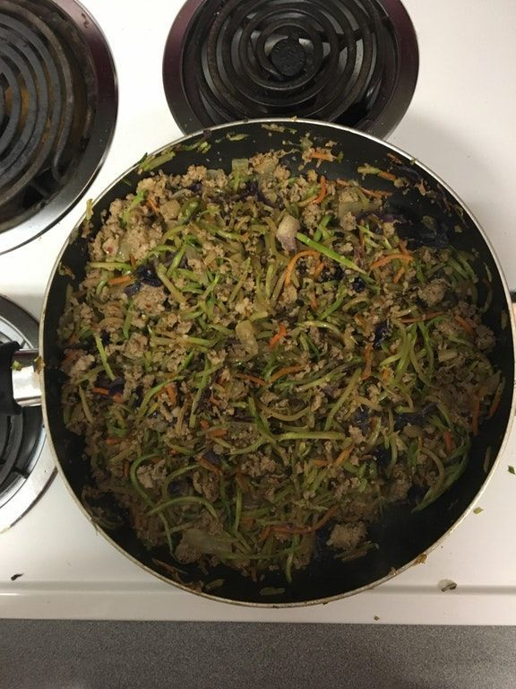 Keto Eggroll in A Bowl (Say it out loud it Iambic Pentameter) : ketorecipes #eggrollinabowl