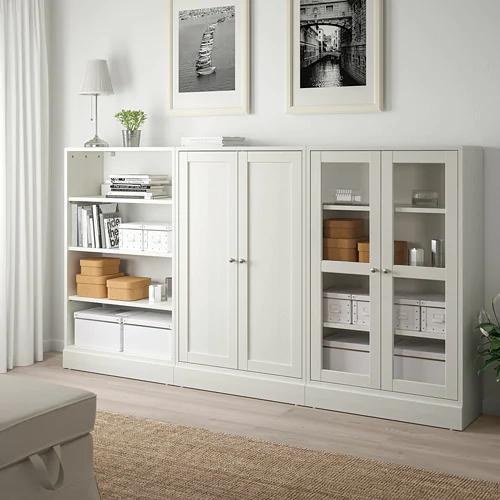 Havsta Storage Combination W Glass Doors White 95 5 8x14 5 8x52 3 4 Ikea Ikea Living Room Home Living Room Storage